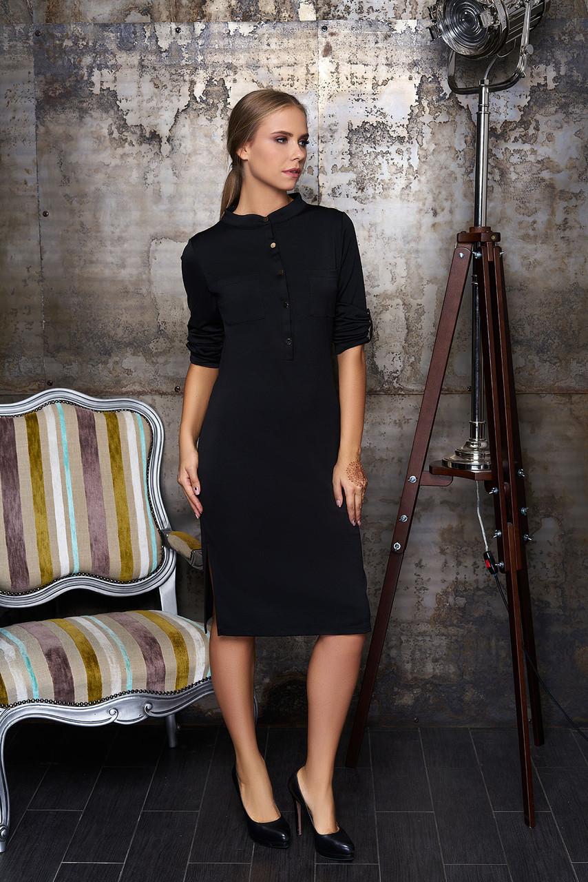 Деловое платье миди черный