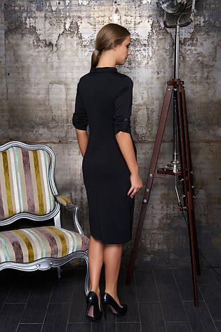 Деловое платье миди черный, фото 2