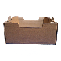Лоток Персиковий бурий 395*300*146 мм із гофрокартону 8 кг