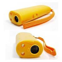 Ультразвуковый отпугиватель собак AD-100 с фонариком (желтый)