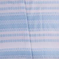 Декоративна тканина з українським орнаментом Грегіт.Блакитна. Ткань с украинским орнаментом Грегит.Голубая