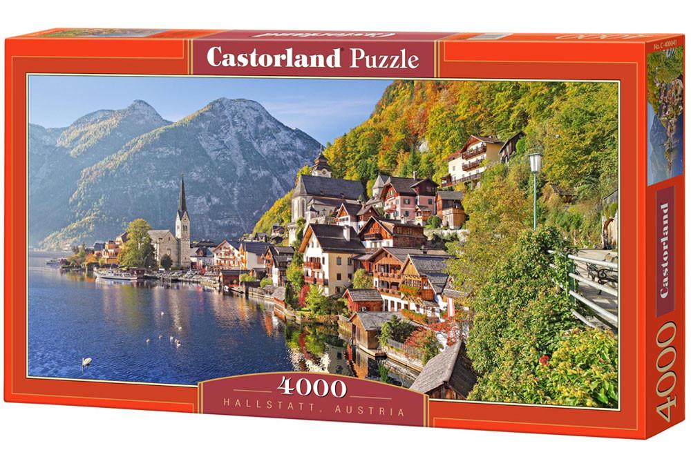 Пазлы Castorland Город на берегу моря (на горном склоне) Hallstatt, Austria 041, 4000 элементов