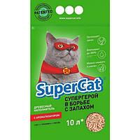 Super Cat - древесный наполнитель с ароматизатором для кошачьего туалета  10 л.