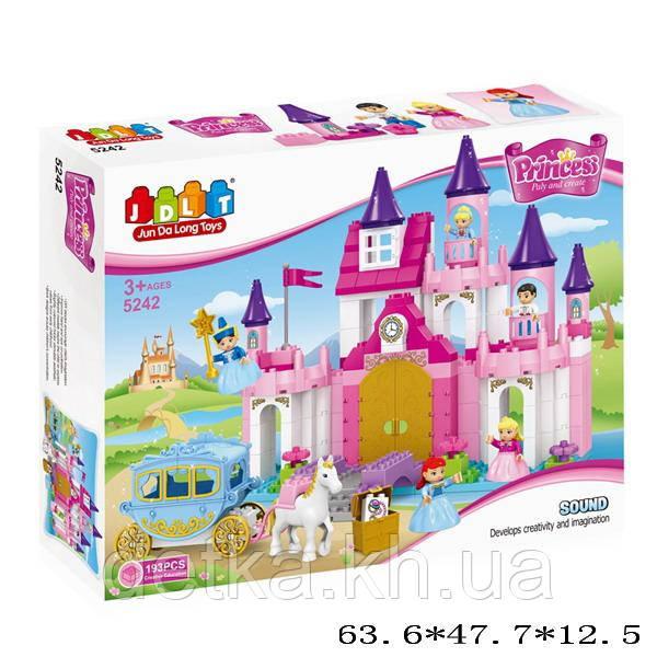 Конструктор для девочек  JDLT 5242 Замок 193 дет. звук