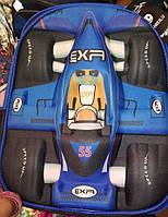 Школьный рюкзак для мальчиков Мото3D, синий