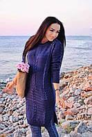 Женская модная туника с жемчугом  ДГд3811