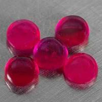 Рубин натур. облагороженный круг кабюшон 0,9кт 1шт
