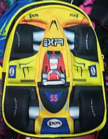 Школьный рюкзак для мальчиков Мото3D, желтый