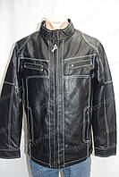 Мужская демисезонная куртка из кож. заменителя черная