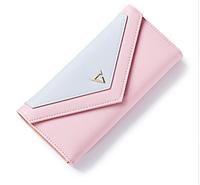 Женский розовый кошелек