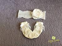 Носочки и повязочка на голову