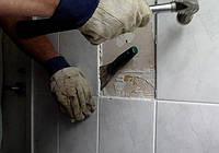 Демонтаж керамической плитки (стены,пол)