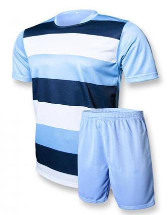 Футбольная форма Europaw club голубо-т.синяя L, фото 2