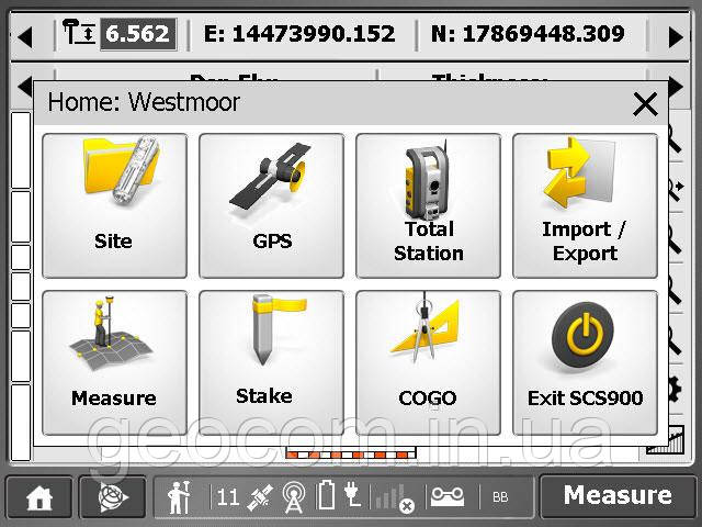 ПО Trimble® SCS900 Office Software (для Desktop с Windows XP)