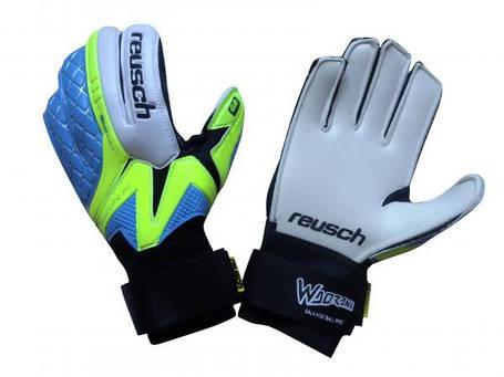 Перчатки Вратарские Reusch Replica сине-салатовые [5], фото 2