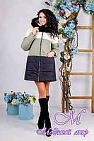 Зимняя женская куртка с мехом (р. 44-54) арт. 999 Тон 25