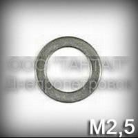 Шайба 2,5 уменьшенная ГОСТ 10450-78 (DIN 433, ISO 7092) оцинкованная