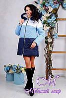 Женская зимняя куртка с мехом (р. 44-54) арт. 999 Тон 10