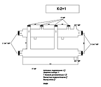 Распределяющий коллектор для системы отопления К-2+1