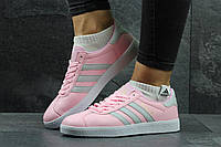 Женские кроссовки Adidas Gazelle розовые 3005