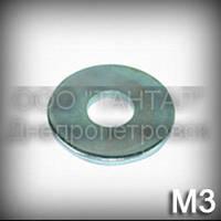 Шайба 3 збільшена ГОСТ 6958-78 (DIN 9021, ISO 7093) оцинкована плоска