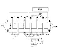 Распределяющий коллектор для системы отопления К-6+1