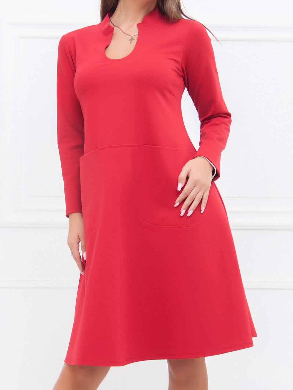 20e7e09777e Демисезонное Платье Таисия в красном цвете  продажа