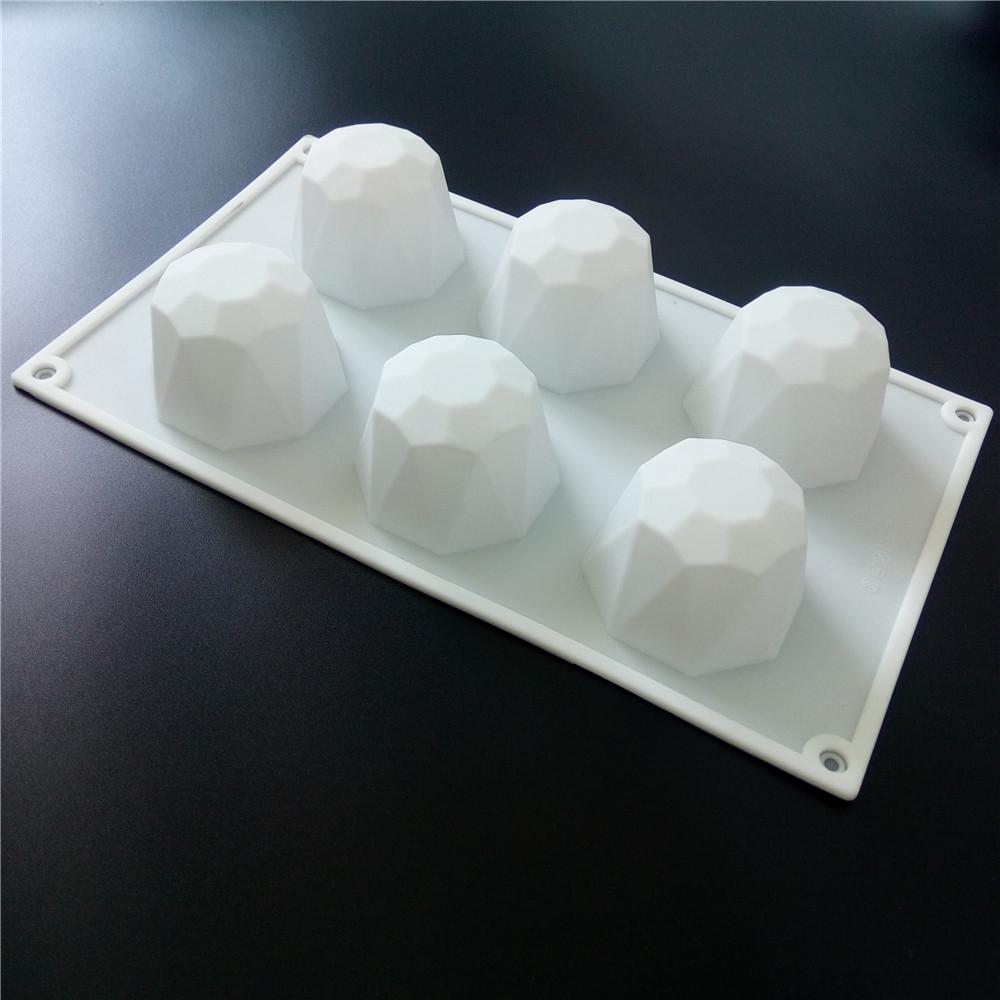 Силиконовая форма для евродесерта Алмаз  Кристалл 6 шт