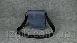 Мужская сумка через плечо |10130| Синий