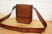 Мужская сумка через плечо  10132  Италия  Коричневый