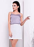 Женская юбка белого цвета. Модель Рона 2762, коллекция весна-лето 2017.