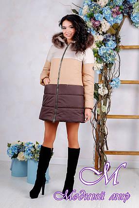 Женская теплая зимняя куртка больших размеров (р. 44-54) арт. 999 Тон 24, фото 2