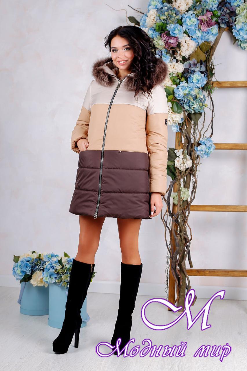 Женская теплая зимняя куртка больших размеров (р. 44-54) арт. 999 Тон 24