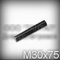 Шпилька М30х75 ГОСТ 22042-76 (ГОСТ 22043-76, DIN 976) с полной резьбой