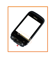 Сенсор (тачскрин) Nokia C2-02, C2-03, C2-06 с рамкой Black Original
