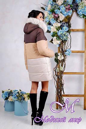 Зимняя теплая куртка больших размеров (р. 44-54) арт. 999 Тон 20, фото 2