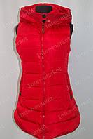 Женская спортивная жилетка безрукавка красная