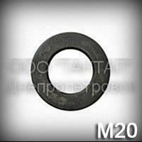 Шайба 20 высокопрочная ГОСТ 11371-78 (DIN 125,ISO 7089,7090) плоская, сталь 40