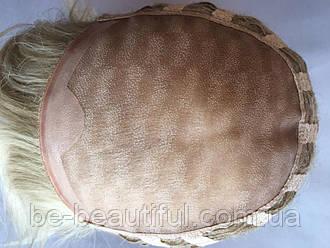 Парик ручной работы №2 Цвет мелирование пшеничный с белым