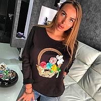 Стильны женский свитшот Корзинка