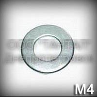 Шайба 4 высокопрочная ГОСТ 11371-78 (DIN 125,ISO 7089,7090) оцинкованная плоская, сталь 40