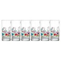 Набор высоких стаканов Rose Pompon 6 шт по 270 мл Luminarc N3684