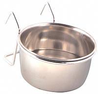 Миска Trixie Stainless Steel Bowl with Holder для птиц металл, подвесная, 0.15 л