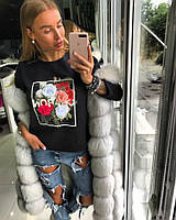 Стильный женский свитшот с принтом