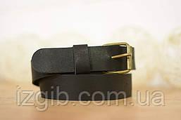 Детский кожаный ремень  10911  Черный (с латунной пряжкой)