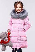 Зимняя розовая курточка для девочек Малика