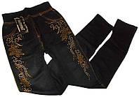 Лосины джеггинсы со стразами черные №3 размер 44-52