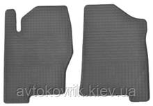 Резиновые передние коврики в салон Nissan Navara (D40) 2005-2010 (STINGRAY)