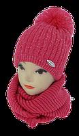 Шапка детская +шарф хомут м 7002, акрил, флис (В.И.В.)
