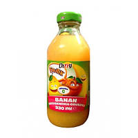 Сок натуральный  банан - яблоко - киви Dizzy Banan-brzoskwinia-gruszka 330 ml.